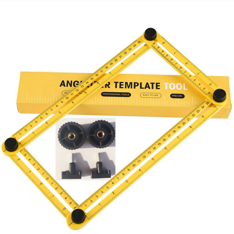 DIY Angle Template Tools Multi Angle Measuring Ruler AngleTemplate Ruler Ultimate Angle Finder for all Angles&Shapes