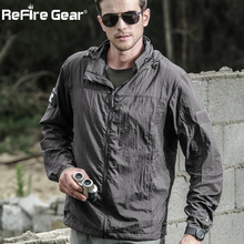 Tactical Lightweight Waterproof Jacket Men Summer Breathable Thin Hoody Raincoat Military Portable Windbreaker Army Skin Jackets