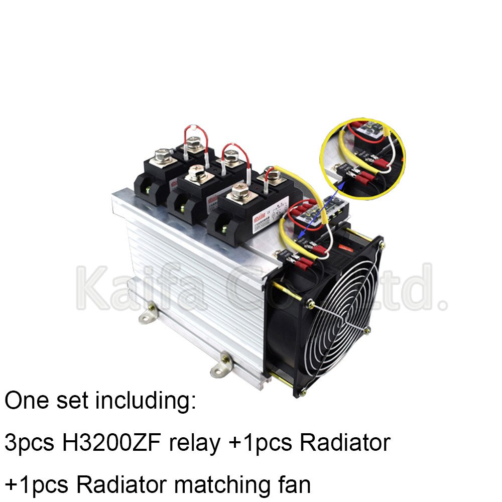 H3200ZF-3 three phase DC to AC 200A 4-32VDC industrial grade solid state relay set/SSR set Not incluidng tax h360zf 3 three phase dc to ac 60a 4 32vdc industrial grade solid state relay set ssr set not not incluidng tax