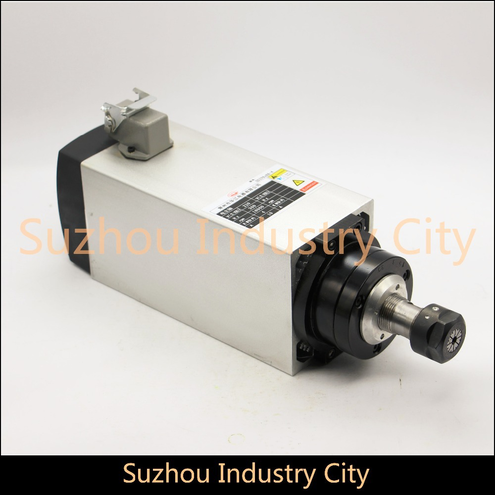 High Quality ! !  220V 3 KW CNC Air Cooled Square Spindle Motor ER20 4 Beaings for CNC wood working engraving milling machine .  цены