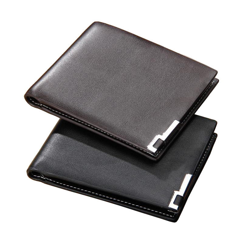 Fashion New Men Wallets Quality PU Leather Personality Short Black Coffee Business Credit Card Holder Purse Wallet Free Shipping