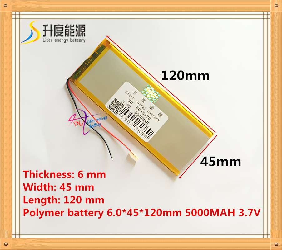 The Tablet Battery 3.7V 5000mAH 6045120 Polymer Lithium Ion / Li-ion Battery For Tablet Pc Battery