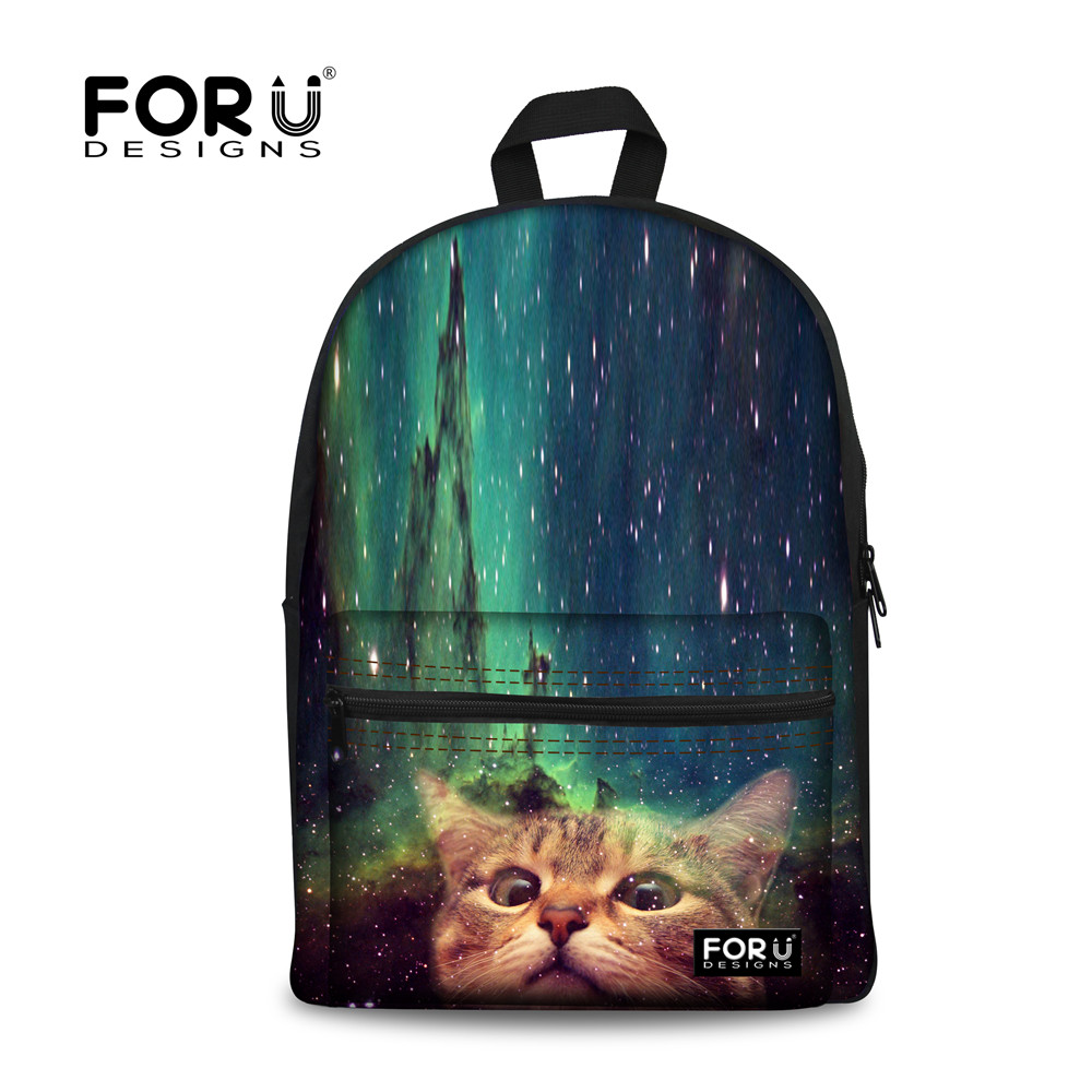 Backpacks For Teenage Girls School Bags Mochila Escolar, Kitty Cat Backpack Women Galaxy Stars Universe Space Laptop Bagpack Bag