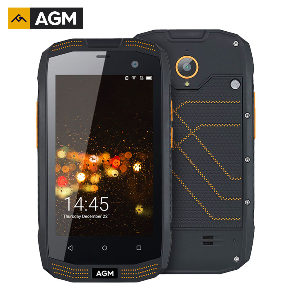Original AGM A2 IP68 Waterproof 2600mAh Dual SIM 2GB RAM 16G ROM Qualcomm  SoC Rugged Smartphone