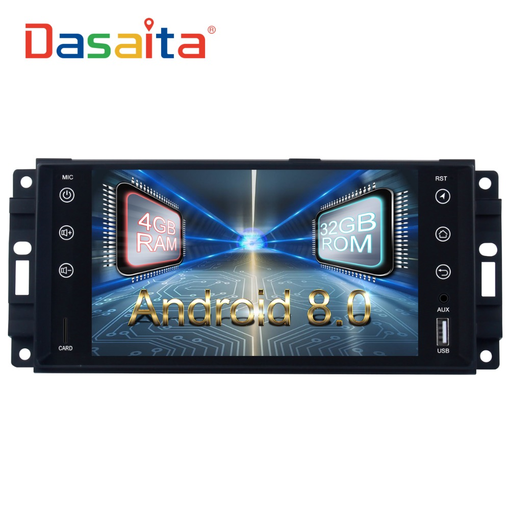 Car Radio GPS Android 9.0 2 Din For  Jeep Wrangler 2007 2008 2010   2013 2014 Compass Radio 8 core Multimedia 4Gb RAM 32Gb ROM-in Car Multimedia Player from Automobiles & Motorcycles    1
