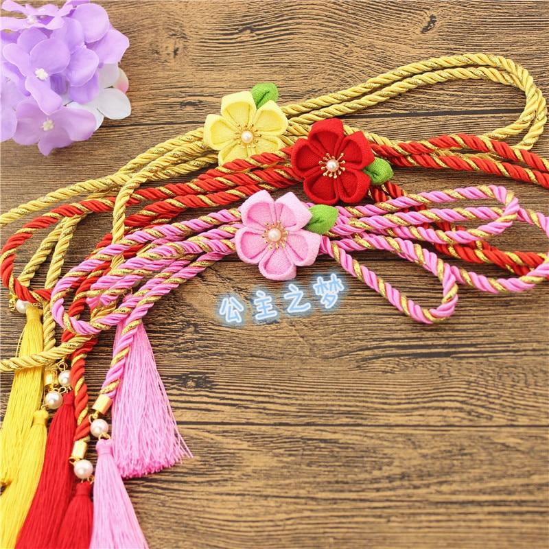 Japanese Kimono Feng Waist Rope Bathrobe Belt Decoration Cherry Blossom Put Joker Crony Hanfu Fringed The Waist Sealing