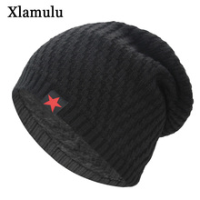 Xlamulu Skullies Beanies Knitted Hat Winter Hats For Men Wom