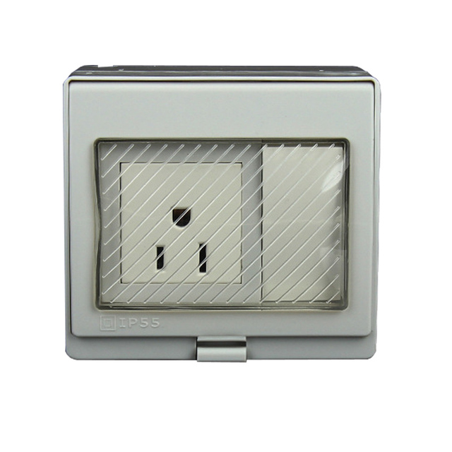 IP55 Report CE Wall Waterproof Power Socket, US Standard Electrical ...