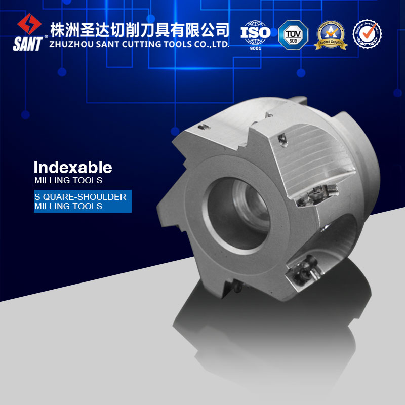 ФОТО Indexable square should milling cutter EMP02-050-A22-AP16-05 serials milling tool