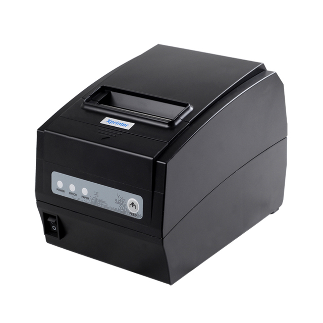 point of sale thermal receipt printer XP-T260H auto cutter 3 in 1 interfaces USB LAN Serial RS232 print speed 260mm/s