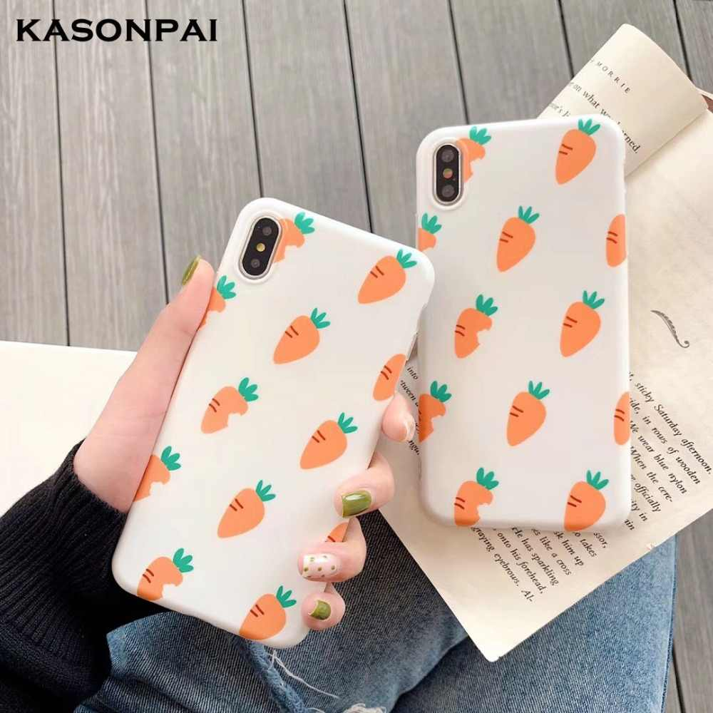 Cute Carrot Silicone Phone Case For Huawei P20 P30 Pro Mate 10 20 Pro Nova 4 3 3i 2S P10 Plus Honor 10 9 Fashion Soft Cover Case