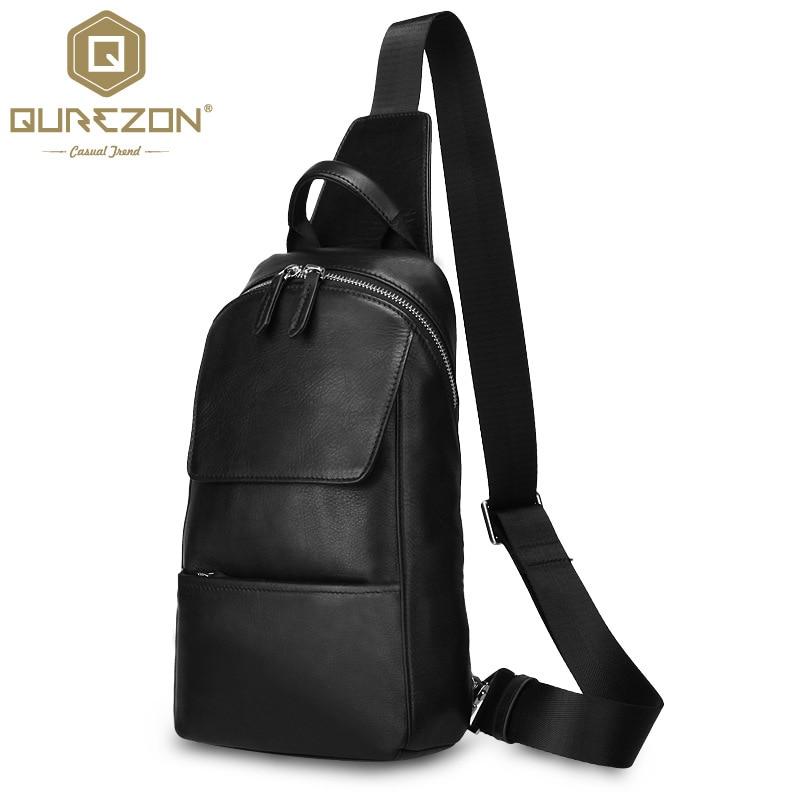 NEW Genuine leather Waist Belt Bag Men Leather Shoulder Men Chest Bags Fashion Travel Crossbodys Bag Man Messenger Bag Male Flap
