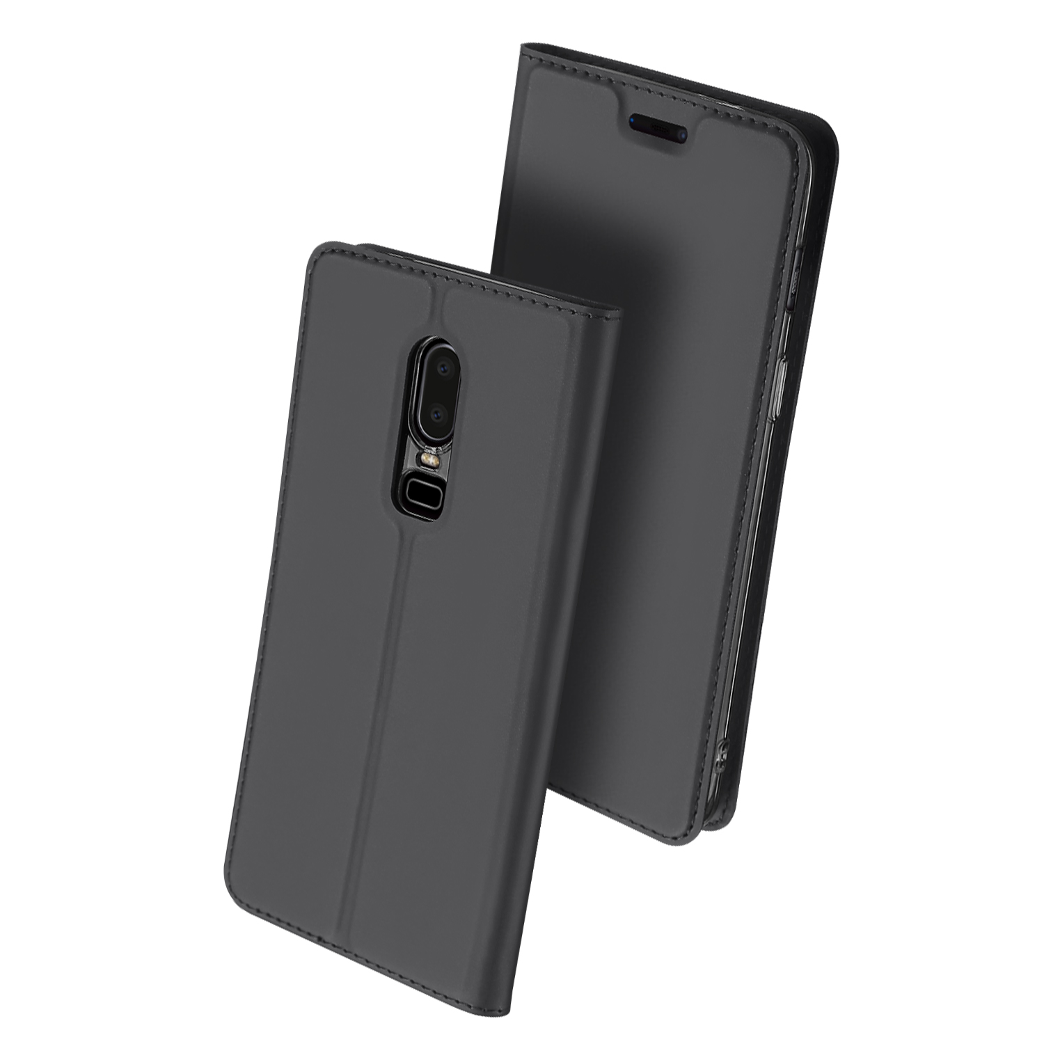 Flip Case for Oneplus 6 1+6 PU Leather TPU Soft Bumper Protective Card Slot Holder Pocket Wallet Stand Cover Mobile Phone Bag