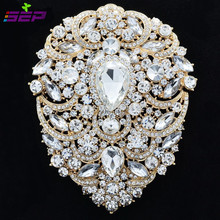 Large Brooch Pins Bridal Wedding Jewelry 4 9 inches Rhinestone Crystal Women Jewelry Accessories 4045