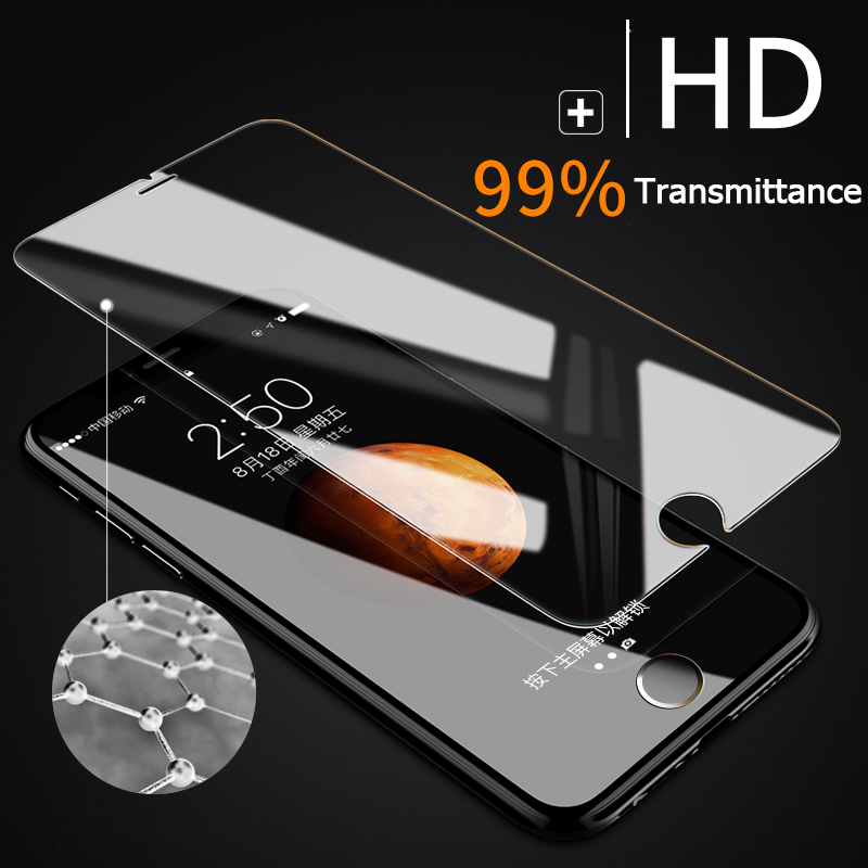 ESVNE 2Pcs lot 2 5D HD Protection Glass For iPhone 5 5S SE 6 7 8 X Glass 6s 8 Plus Tempered Glass iPhone 6 Screen Protector Film in Phone Screen Protectors from Cellphones Telecommunications