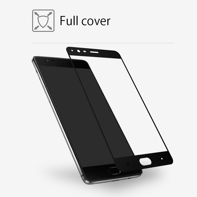 For Oneplus 5 five Tempered Glass Color Full Cover Screen Protector For One plus 3 A3000 1+ 3T T Guard Explosion Proof Film