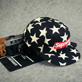 New arrival hip pop style fashion star and supreme print visor cap men and women cap MZ1-2