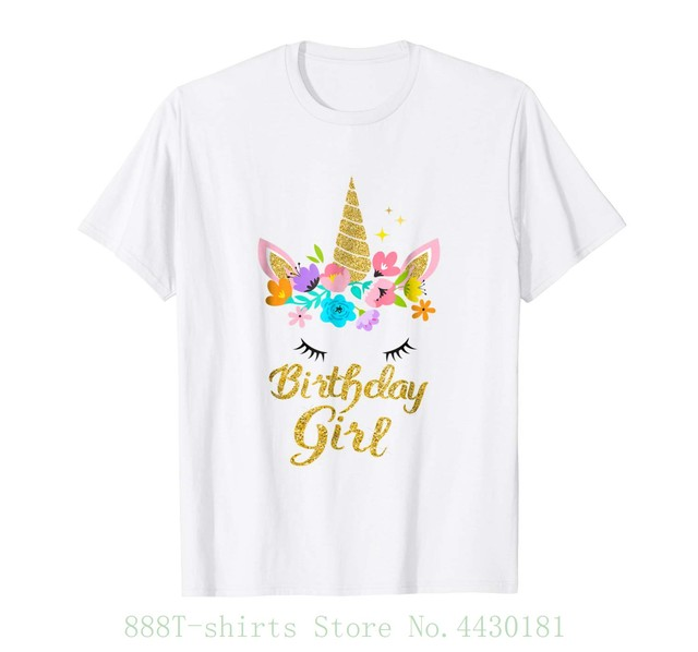 Womens Tee Unicorn Birthday Girl T Shirt Gift Present For Shirts