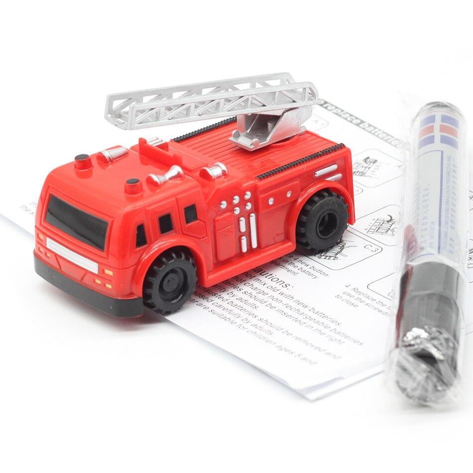 Kostenlose Lieferung Magic Pen Induktive Auto Lkw Befolgen Sie Gezogen Schwarz Linie Mini Spielzeug Engineering Fahrzeuge Pädagogisches Spielzeug