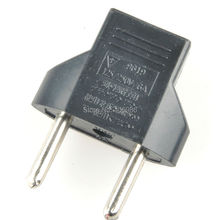 10pcs/Lot 2 Pin Electricity Plug Converter EU Adapter  FZ0339