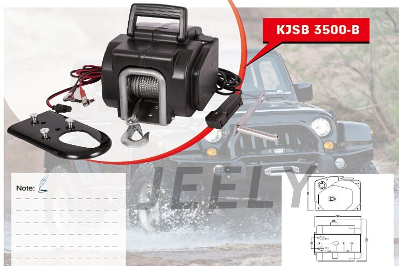 Free Shippign Yacht Winch,Boat winch,Barge winch 12V 3500lb ELECTRIC WINCH 3500lb winch electric winch 12v 4x4 utv atv winch free shipping