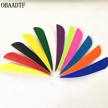 цена на 50Pcs 4inch Water Drop 12Color Arrow Feather Vanes Turkey Feather Bow And Arrow Shooting Aluminum Arrow Carbon Accessories