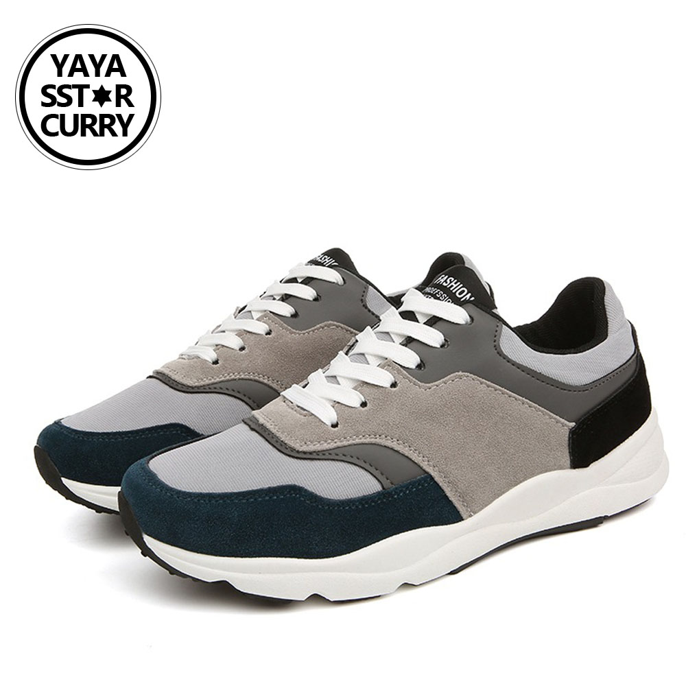 2018 YAYA SSTAR CURRY Retro running shoes sneakers Genuine Leather men sports shoes good quality outdoor walking shoes men