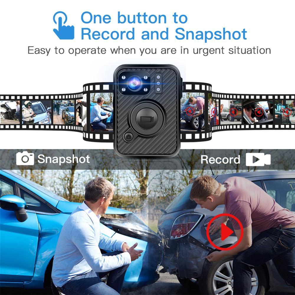 BOBLOV Wifi полицейская камера 64GB F1 Body Kamera 1440P изношенная камера s для правоприменения 10H запись gps ночное видение DVR рекордер - 2