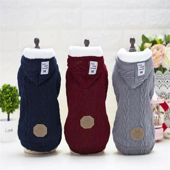 c3442910157 Nueva ropa para perro mascota invierno cálido perro suéter abrigo grueso  ropa para mascotas para perros Chihuahua disfraz sudaderas con capucha ropa  ...