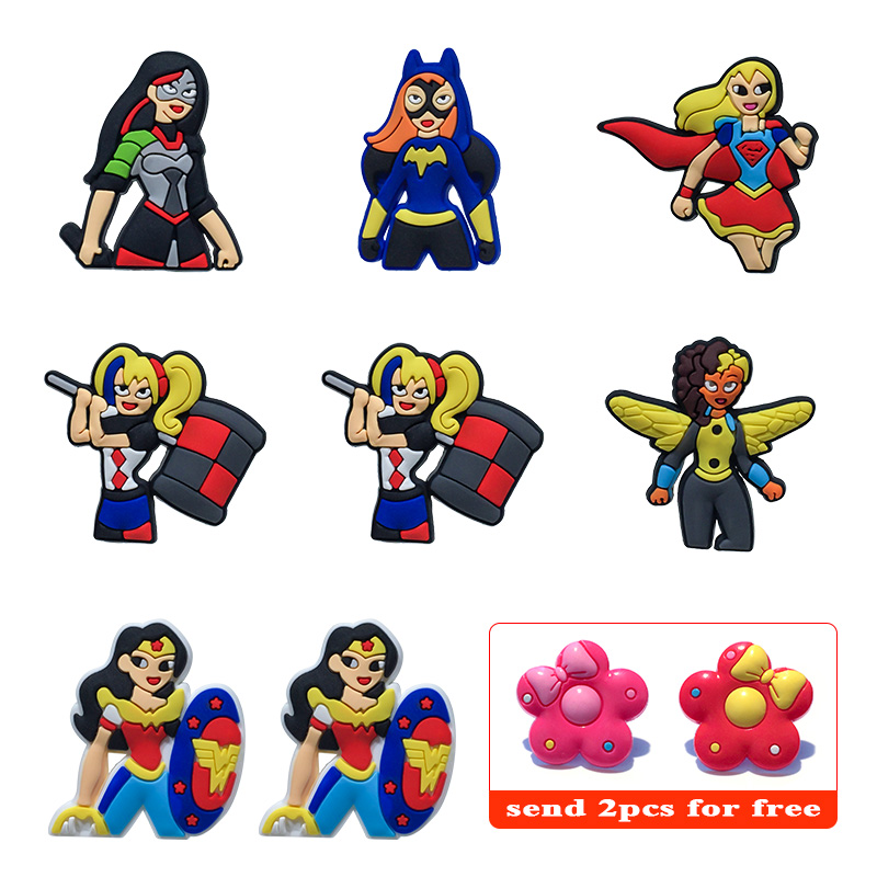 Furniture 160pcs Superhero Cartoon Pvc Shoe Buckles Shoe Charms Fit For Shoes&wristbands With Holes Furniture Accessories Kids Favors