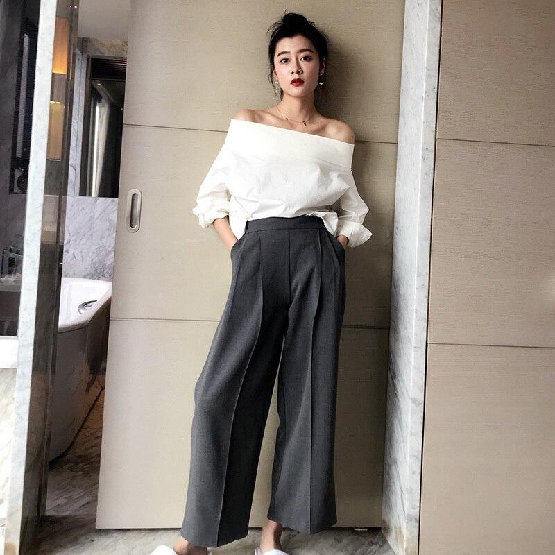 CHICEVER 2018 été Sexy Whiet Blouse chemise haut pour femme Slash cou manches chauve-souris dos fendu dames Blouses mode coréenne marée - 5