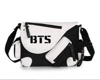 Korean BTS Bangtan Boys Bulletproof Boys Canvas Casual Zipper Boys Girls Shoulder Bag Crossbody Bags Schoolbags Messenger Bag