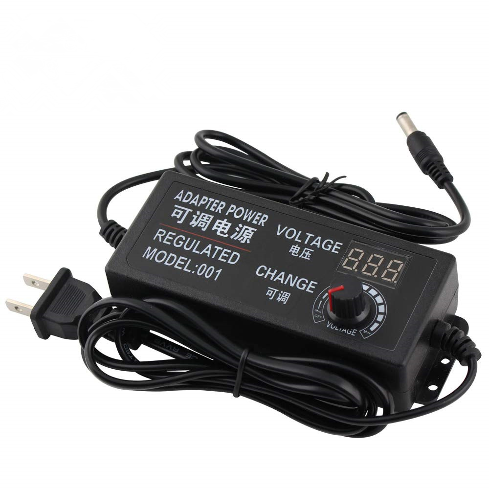 Adjustable <font><b>AC</b></font> to <font><b>DC</b></font> 3V-12V 3V-24V <font><b>9V</b></font>-24V Universal <font><b>adapter</b></font> with display screen voltage Regulated power supply adatpor 3 12 24 v image