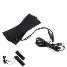 1 шт. быстро нагревающиеся подушечки из углеродного волокна с подогревом USB куртка с подогревом жилет аксессуары теплая задняя Шея 6x20 см