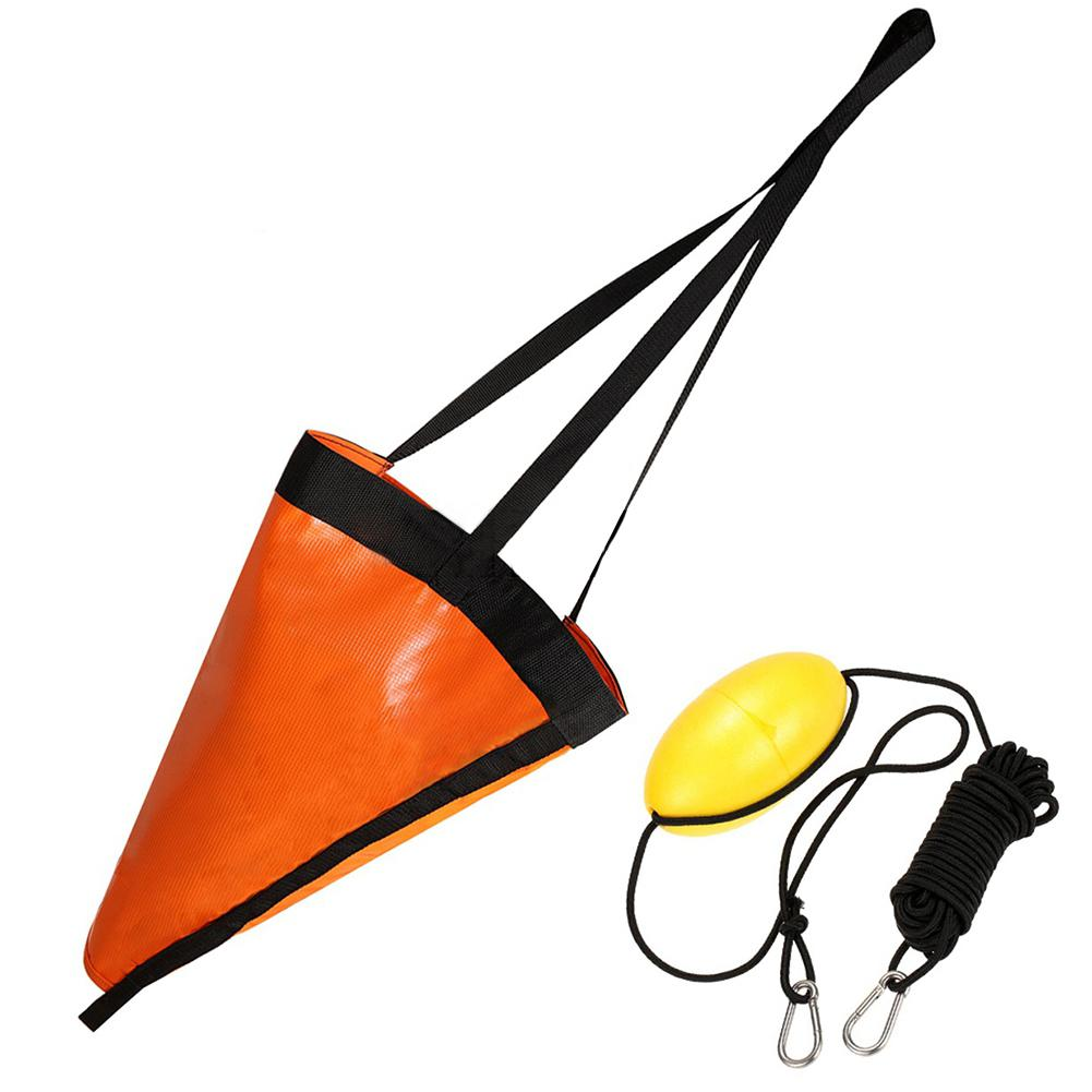 Mounchain Sea Anchor Drogue + PVC Kayak 24 Inches Drift Anchor Tow Rope Throw Line To Fishing Line Canoe Kayaking/ Rowing Boat