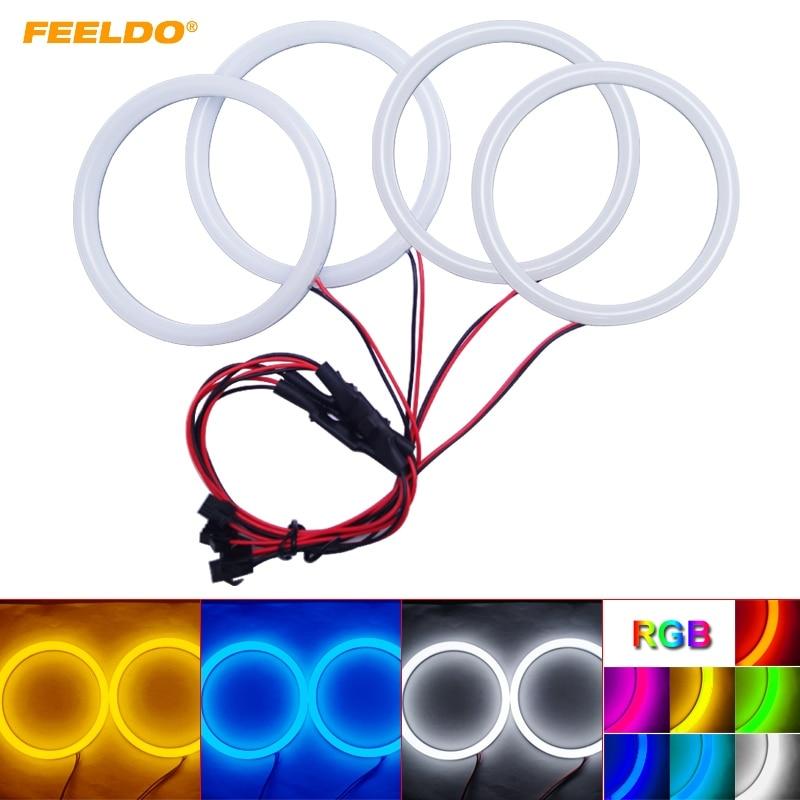 FEELDO 1 Set voiture xénon coton ange yeux Halo anneau lumière DRL pour BMW E46 Coupe 2D (04 +)/E46 Cabrio/Z3 phare