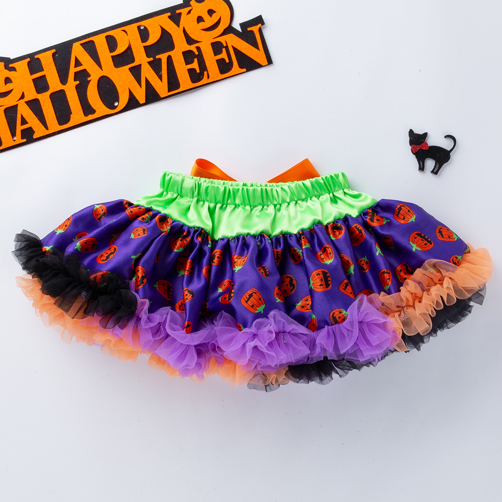 YK&Loving Tulle Skirt Childrens Tutu Clothing Halloween childrens princess soft and fluffy baby skirt cute Outfit Clothes