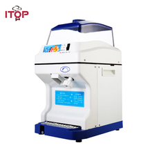 ITOP Commercial Electric Ice Crusher Shaver 200kgs/h Snow Cone Ice Maker Machine Adjustable Ice Thickness slushy maker цена в Москве и Питере