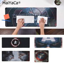 MaiYaCa Top Quality Marvel Captain America Natural Rubber Gaming mousepad Desk Mat Free Shipping Large Mouse Pad Keyboards