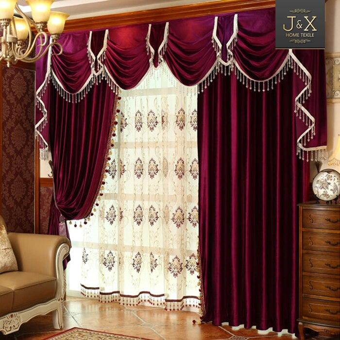 Popular velvet curtains red buy cheap velvet curtains red for Red velvet curtains living room