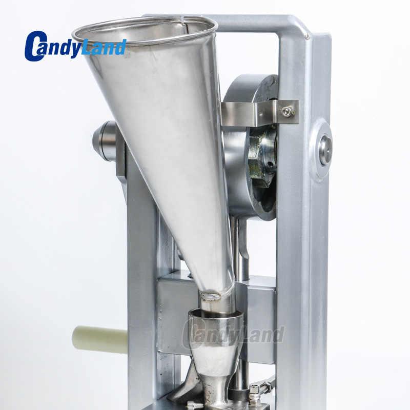 Candland TDP0 دليل واحد لكمة السكر اللوحي آلة ضغط أقراص الدواء شريحة صنع اليد تعمل نوع صغير الكالسيوم اللوحي صانع