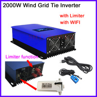 2000W inverter AC 45 90V input Grid Tie system wind power invertor with limiter sensor &wifi plug MPPT LCD display 220V output