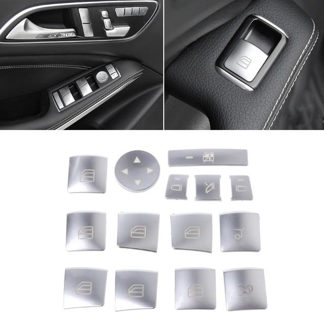 Car Window Glass Lift Button Sticker For Mercedes Benz A B C E GLA CLA GLK GL ML GLE Class 3