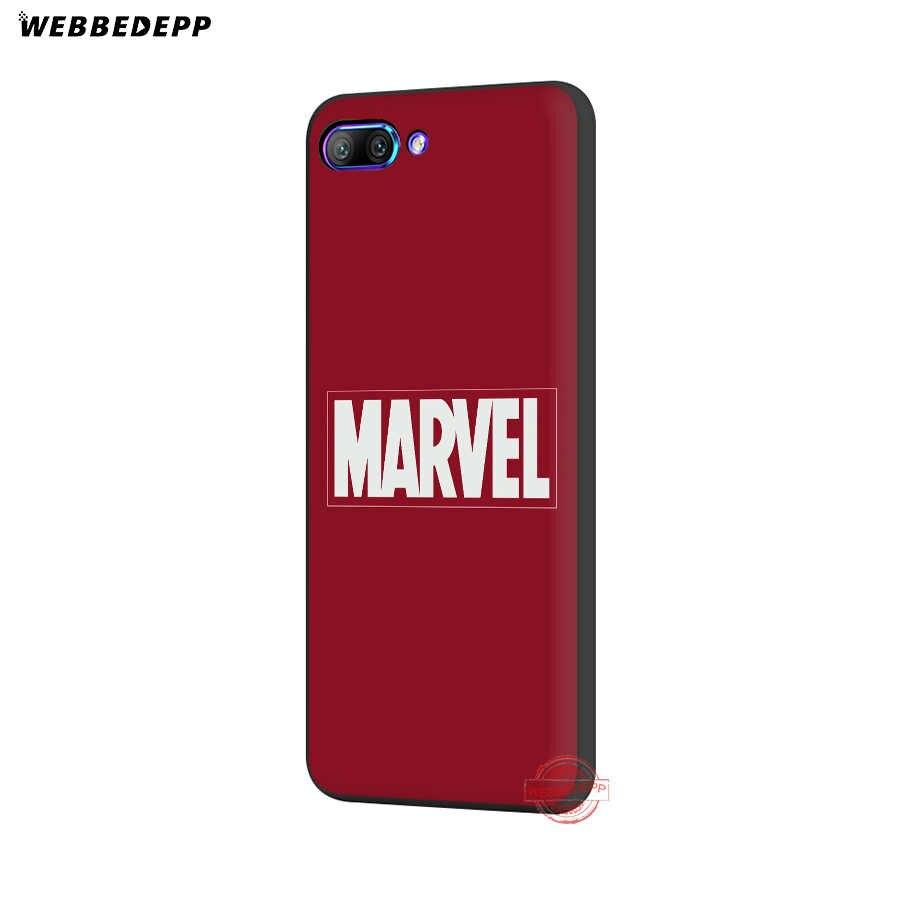 Webbedepp di Lusso Marvel Comics Logo Custodia Morbida per Honor 20 10 9 9X8 Lite 8C 8X 7X 7C 7A 3 Gb 6A Pro Vista 20
