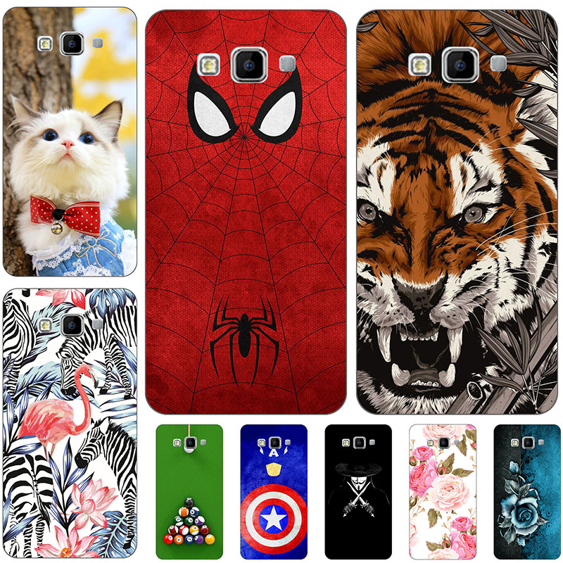Lovely Cartoon Phone <font><b>Case</b></font> For <font><b>Samsung</b></font> <font><b>Galaxy</b></font> <font><b>A5</b></font> 2015 A500 A500F <font><b>A500FU</b></font> 5.0 Protector <font><b>Case</b></font> Animal Cat Pattern Cover Printed Coque image