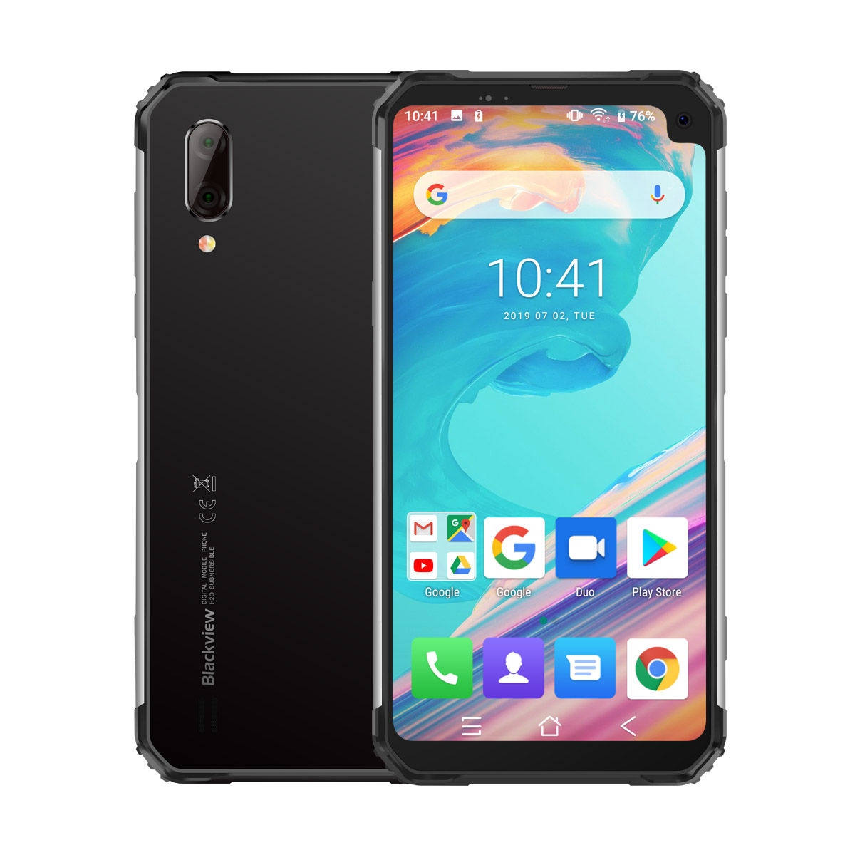Blackview BV6100 Android 9.0 IP68 IP69k NFC SmartPhone téléphone portable 3GB RAM 16GB ROM 6.88