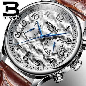 Switzerland Binger Luxury Brand Men's Watches Relogio Waterproof Watch Male Automatic Mechanical Men Watch Sapphire B-603-54 - DISCOUNT ITEM  49% OFF All Category