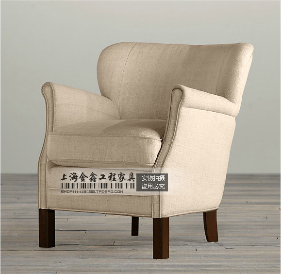 Neighbor Markor American luxury to do the old French antique sofa single sofa  chair leisure sofa - Neighbor Markor American Luxury To Do The Old French Antique Sofa
