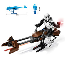 2019 New DIY Imperial Storm Scout Troopers Speeder Bike Compatible Legoings StarWars 75532 Brick Toys for Kids Gift