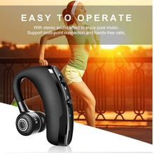 YuBeter หูฟังบลูทูธกีฬาหูฟังไร้สายชุดหูฟังสเตอริโอลดเสียงรบกวนหูฟังไมโครโฟนในตัวสำหรับวิ่งฟรี